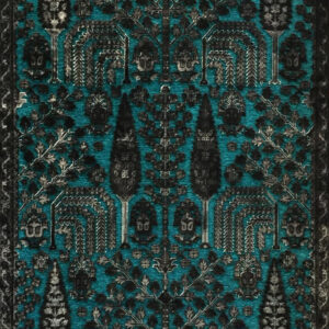 فرش وینتیج رنگ آبی3
