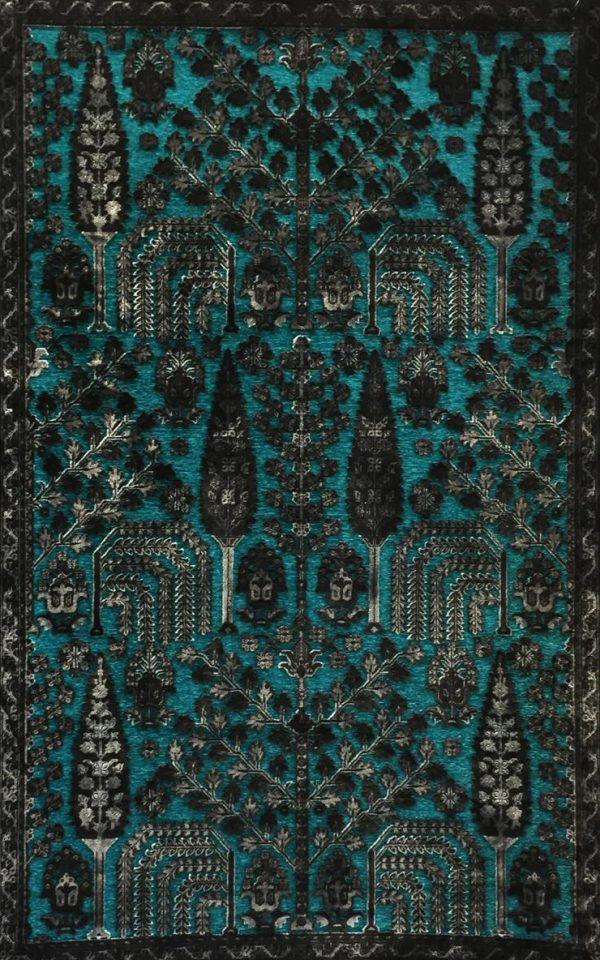 فرش نقش کهن کلکسیون پتینه کد ۲۰۲۰blue