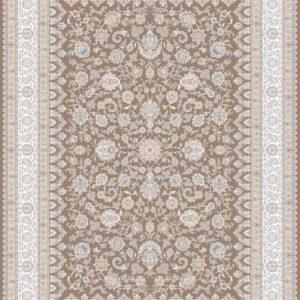 فرش ماشینی 1200 شانه طرح بیتا رنگ نسکافه ای