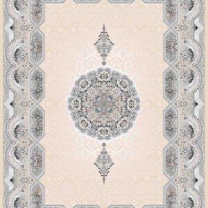 فرش ثمین طرح مدرن هولیدی رنگ بژ کد 9