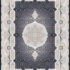 فرش ثمین طرح مدرن هولیدی رنگ ذغالی کد 9