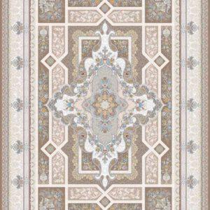 فرش ثمین طرح مدرن هولیدی خزان رنگ گردو کد 9