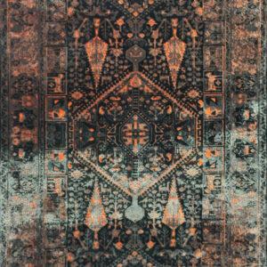 فرش وینتیج رنگ نارنجی 2