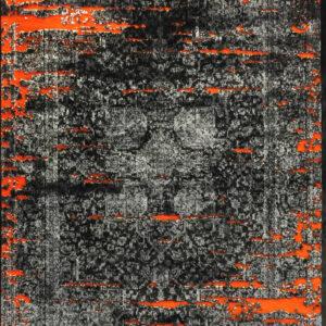 فرش وینتیج رنگ نارنجی ۳