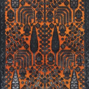 فرش وینتیج رنگ نارنجی 4