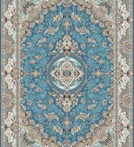 فرش ماشینی 1200 شانه انا طرح ترانه فیروزه ای