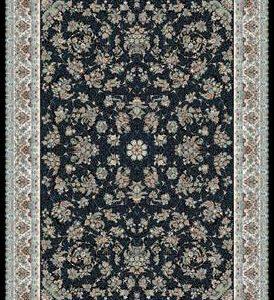 فرش ماشینی 1200 شانه انا طرح زنبق سرمه ای