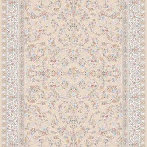 فرش ماشینی 1200 شانه طرح رامونا رنگ بژ
