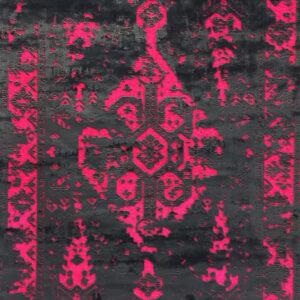 فرش وینتیج رنگ رز