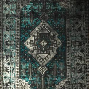 فرش وینتیج رنگ سبز2