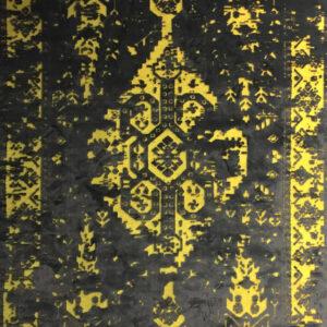 فرش وینتیج رنگ زرد۲