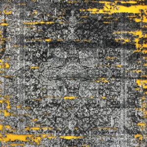 فرش وینتیج رنگ زرد4