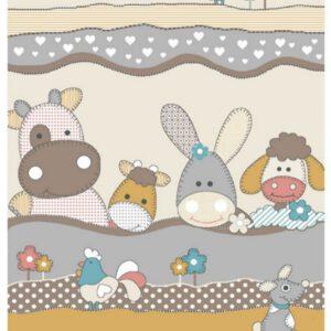 فرش کودک طرح حیوانات