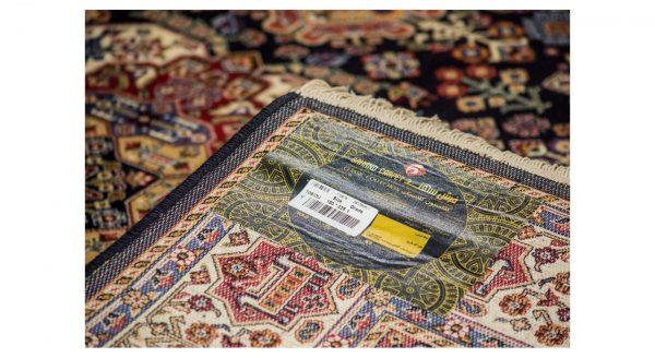 فرش سهند کلاسیک زمینه سرمه ای کدV105.DU