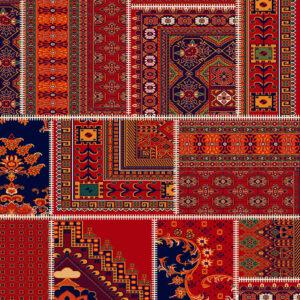 فرش ساوین طرح چهل تیکه