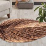فرش سه بعدی زرباف طرح برگ