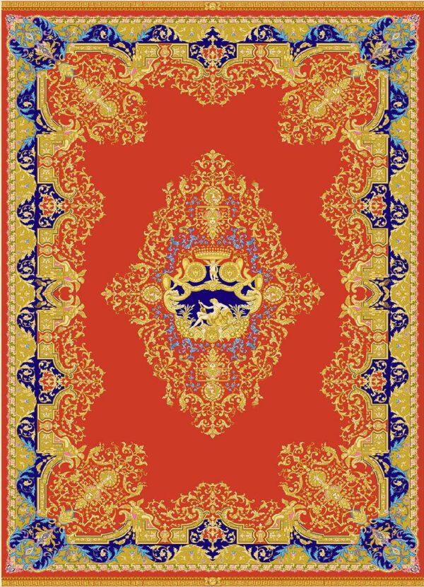 فرش 1600 شانه مشهد اردهال تمام ابریشم کد16059