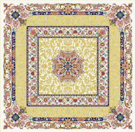 فرش 1600 شانه مشهد اردهال تمام ابریشم کد 16063