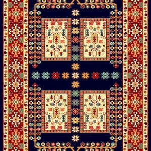 فرش ساوین طرح قشقایی