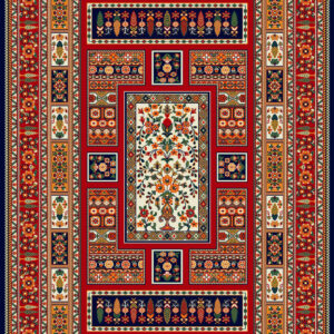 فرش ساوین طرح باغی