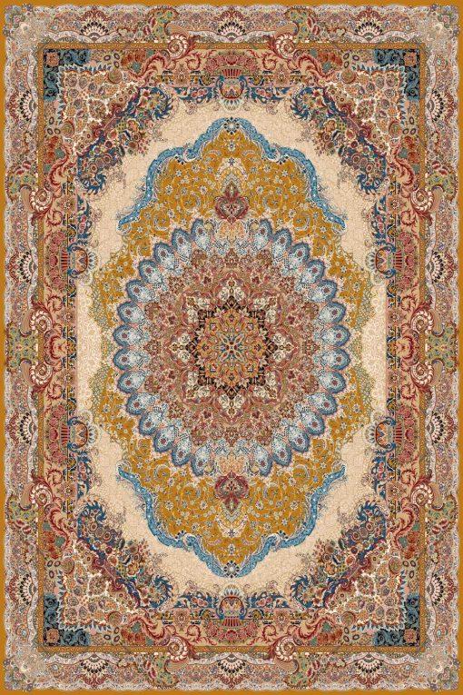 فرش ساوین طرح مهر و طلایی