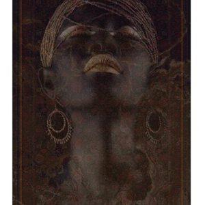 تابلو فرش ماشینی طرح چهره کد Y232