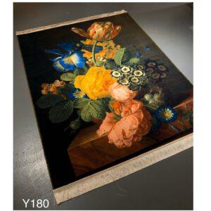 تابلو فرش ماشینی طرح گل کد Y180