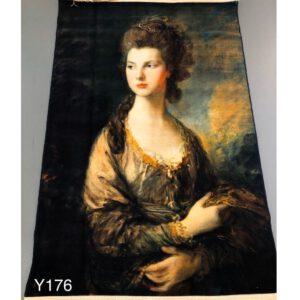 تابلو فرش ماشینی طرح چهره کد Y176