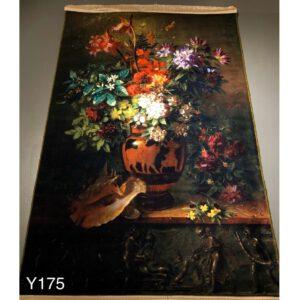 تابلو فرش ماشینی طرح گل کد Y157