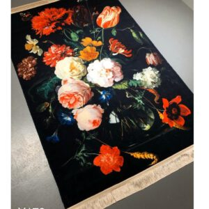 تابلو فرش ماشینی طرح گل کد Y179