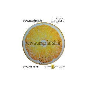 فرش گرد مخملی طرح پرتقال کد 305