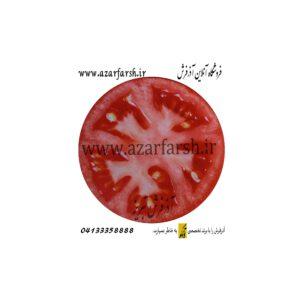 فرش گرد مخملی طرح گوجه فرنگی کد 307
