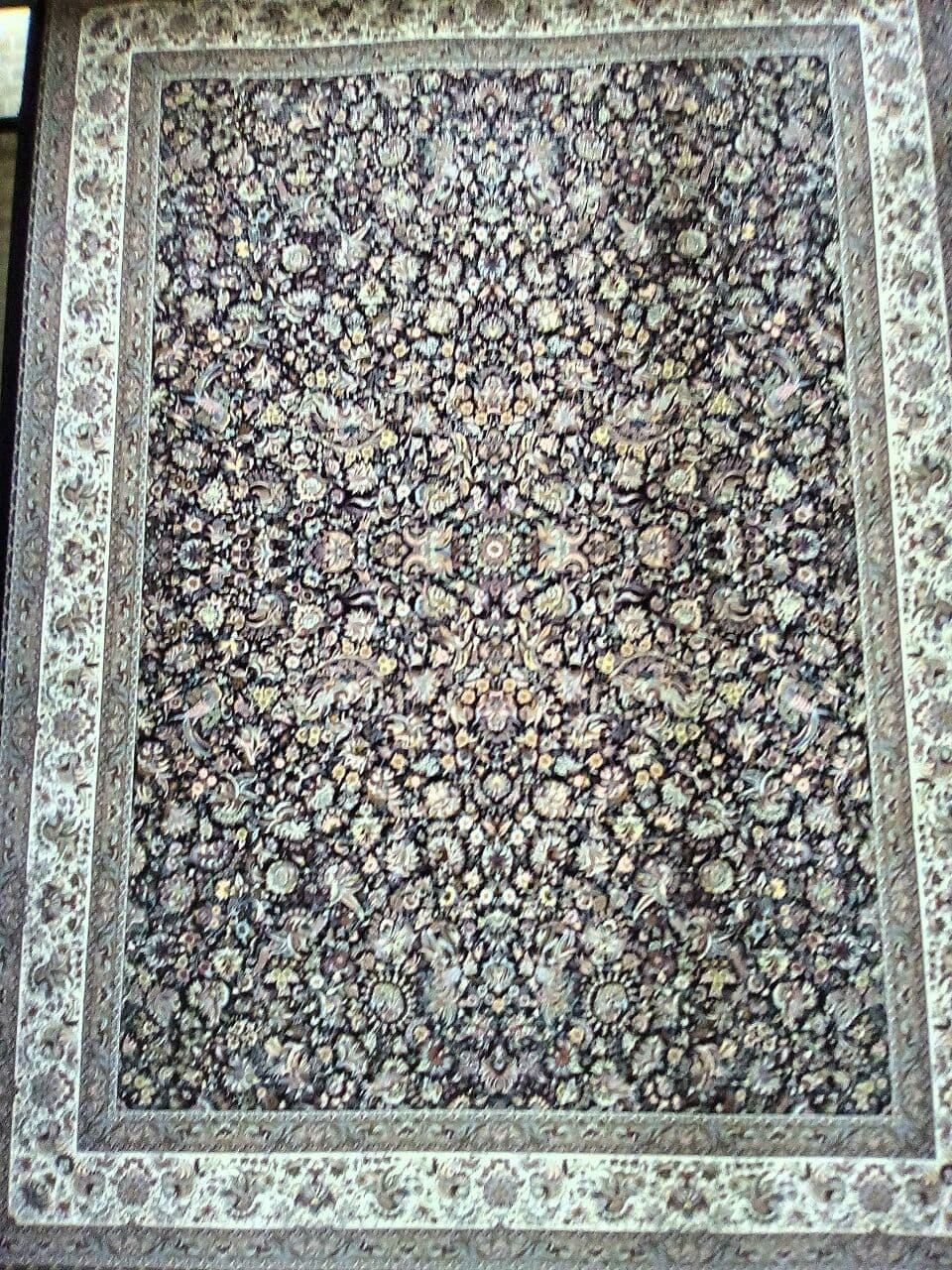 زرع نیم۱٫۵×۱متری طرح افشان سلطنتی سرمه ای وزرا ۱۲۰۰شانه