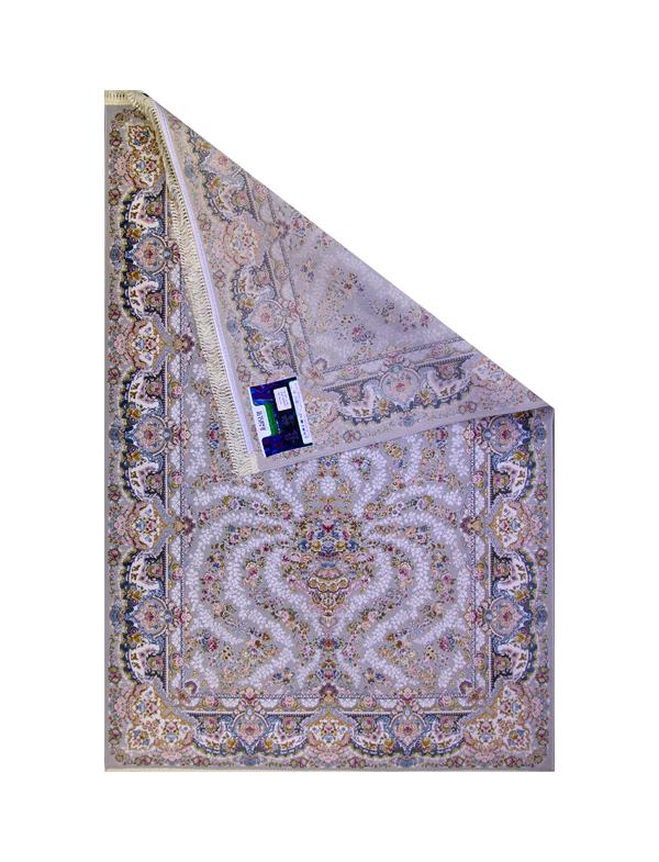 فرش ماشینی 1200 شانه رویای کمال طرح افشان درباری فیلی سفید