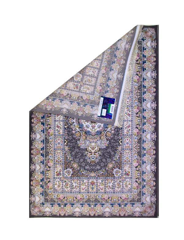 فرش ماشینی 1200 شانه رویای کمال طرح خشتی مینیاتور دودی