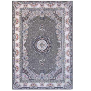 فرش ۷۰۰ شانه حریر گل مشهد طرح ژاکلین